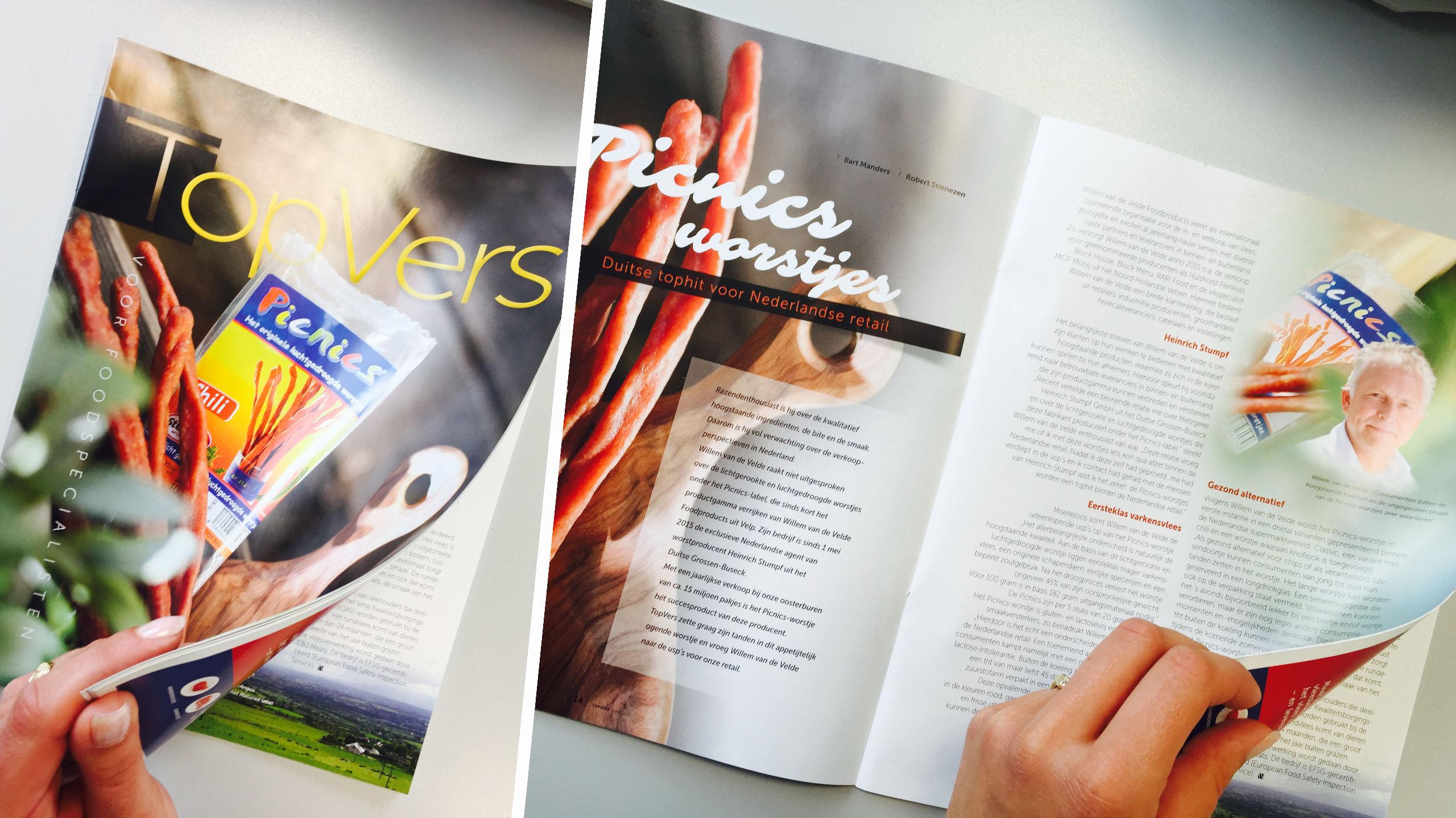Picnics im Magazin Topvers